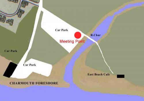 Charmouth Beach Map